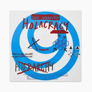 Simon Denny - Formalised Org Chart / Architectural Model: Holacracy print - 2016