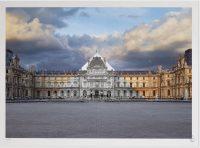 JR - Le Louvre revu par JR, 19 juin 2016, 21h23 © Pyramide, architecte I.M. Pei, musée du Louvre, Paris, France, 2016