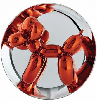 Jeff Koons - Balloon Dog plate Orange
