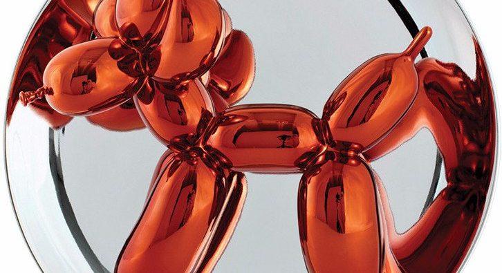 Jeff Koons - Balloon Dog plate Orange