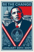 Shepard Fairey - Be The Change - 2009