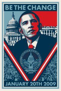 Shepard Fairey - Be The Change - 2009