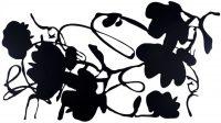 Donald Sultan - Black Lantern Flowers (cut-out) - 2016