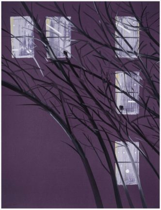 Alex Katz - Purple Wind - 2017