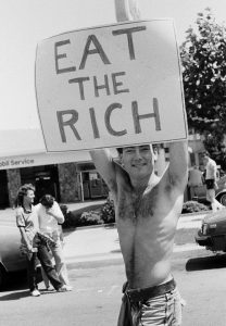 Catherine Opie - National March for Lesbian and Gay Rights, 1984 (EAT THE RICH for the Fire Island Artist Residency) - 1984/2017