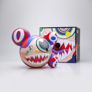Takashi Murakami x ComplexCon Mr DOB Figure By BAIT x SWITCH Collectibles (gold + original 2 Pack)