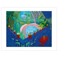 David Hockney - Red Pots in the Garden
