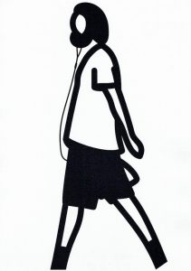 Julian Opie - Beard / Headphone