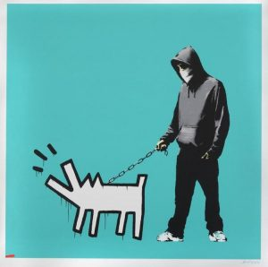 Banksy - Choose Your Weapon (turquoise) - 2010