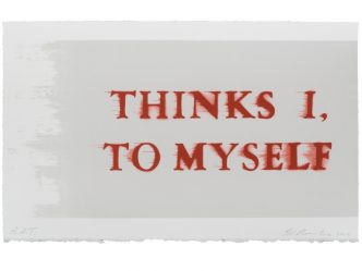 Ed Ruscha - Thinks I, To Myself - 2017