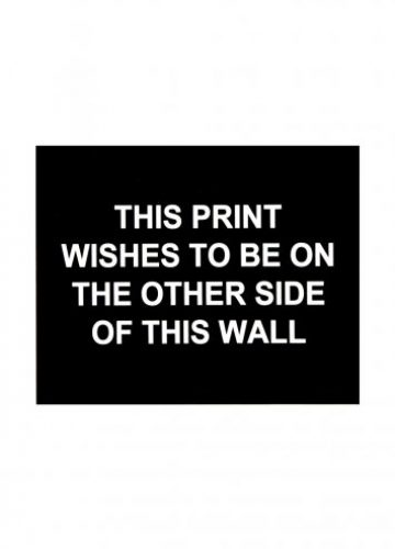 Laure Prouvost – This print wishes to be on the other side of this wall