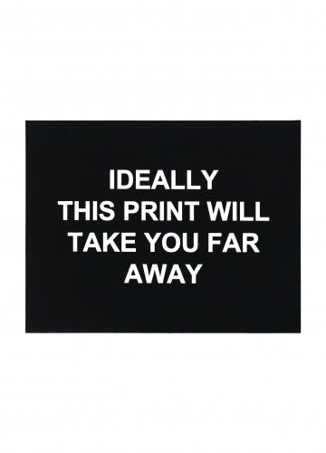 Laure Prouvost – Ideally this print will take you far way