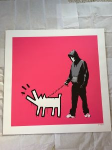 Banksy - Choose Your Weapon (magenta) - 2010