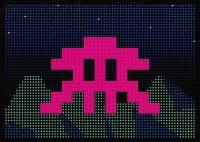 Invader - L.E.D. - 2017