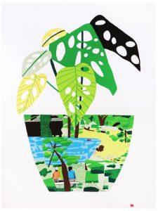 Jonas Wood - Landscape Pot with Plant - 2017