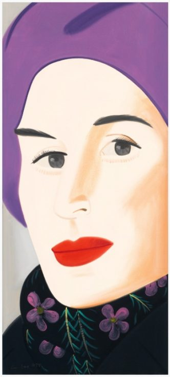 Alex Katz - Purple Hat Ada - 2017