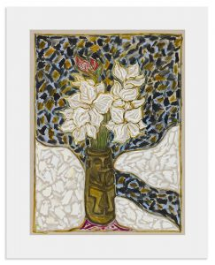 Billy Childish - Flowers In Mouth Puller Pot - 2017