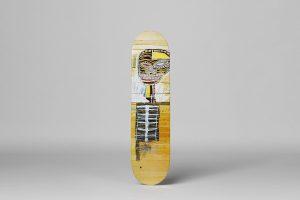 """Jean-Michel Basquiat - Skate deck """"Gold Griot"""""""