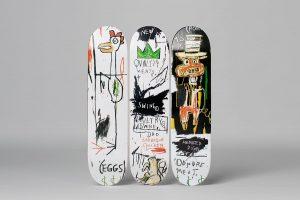 "Jean-Michel Basquiat - Skate deck Triptych ""Quality Meats"""
