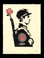Shepard Fairey - Rose Soldier - 2017