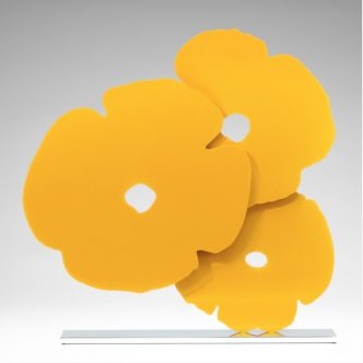 Donald Sultan - Yellow Poppies - 2017