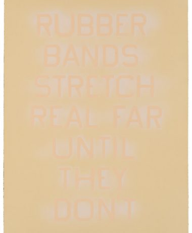 Ed Ruscha – Rubber Bands (State IV) – 2017