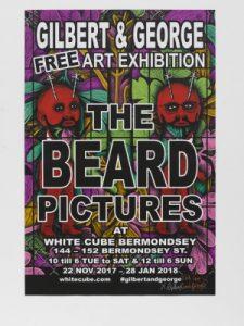 Gilbert and George - The Big Beard Poster - 2017