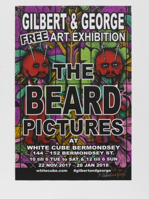 Gilbert & George - The Big Beard Poster - 2017