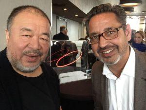 Meet & Greet Ai Weiwei - Amsterdam Light Festival (Ai Weiwei - Bilou Damen)