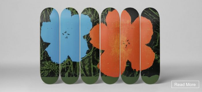 Andy Warhol - Flowers - Skate Deck Set
