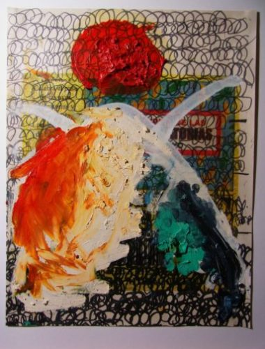 "Oscar Murillo – Work series ""lottery"" – 2017"