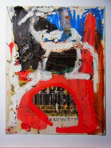 "Oscar Murillo - Work series ""lottery"" - 2017"