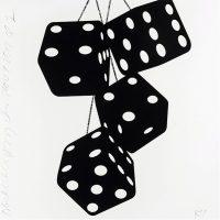Donald Sultan - Fuzzy Dice (black-white)