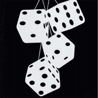 Donald Sultan - Fuzzy Dice (white-black)