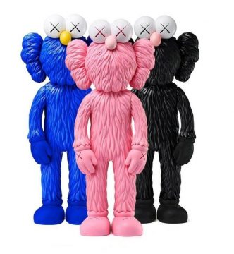 KAWS - BFF Pink, Black and Blue
