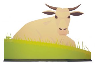 Alex Katz - Cow (large) - 2006 recto