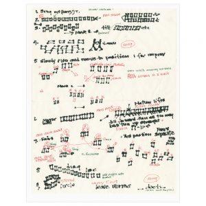 Joan Jonas - Score, Document of 2012 reconstruction of Mirror Piece I (1969) - 2018