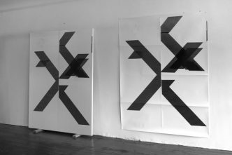 Wade Guyton - X Poster (Untitled, 2007, Epson UltraChrome inkjet on linen, 84 x 69 inches, WG1210) - 2018