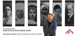 Ai Weiwei - Good Fences Make Good Neighbors: Portrait Banners - 2018