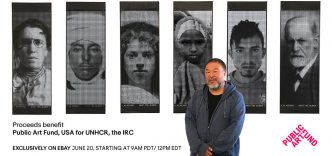 Ai Weiwei - Good Fences Make Good Neighbors: Portrait Banners - 2018