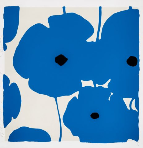 Donald Sultan – Poppies Blue – 2018