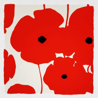 Donald Sultan - Poppies Red - 2018
