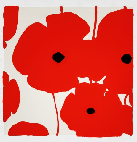 Donald Sultan – Poppies Red – 2018