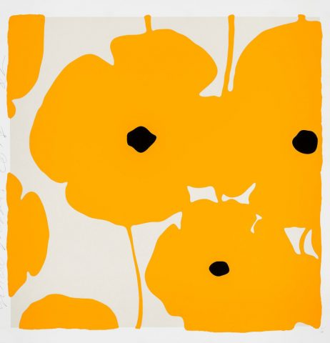 Donald Sultan – Poppies Yellow – 2018