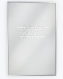 Jenny Holzer - With a Glass House - 2018
