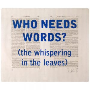 William Kentridge -Blue Rubrics (WHO NEEDS WORDS) -2018