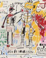"Detail from: Jean-Michel Basquiat ""Boxer Rebellion"" (1982-83 / 2018)"