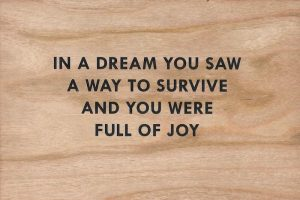 Jenny Holzer - Wooden Postcard