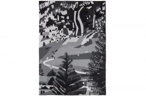 Jonas Wood, Blanket - Untitled - B&W