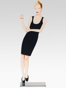 Alex Katz - Black Dress Sculpture 3 - Oona